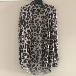 EUC H&M leopard print long cardigan size small